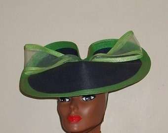 Blue And Green Dress Hat