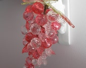 Lucite Grapes Cluster - 70s Retro Decor - Shabby - Cottage Garden Chic - Think PINK