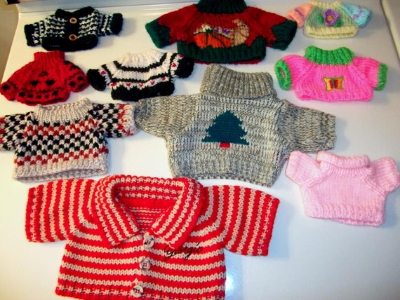 Christmas Teddy Bear Sweater Lot and Thanksgiving and Easter Too