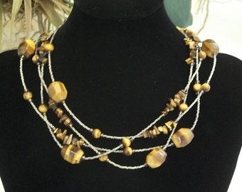 Tigereye Nugget Necklace