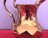 Gorgeous, Vintage, 19th Century Copper Lusterware Cream Pitcher