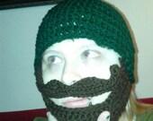BEARDICUS Beard face warmer hat bearded mustache beanie Halloween Costume 25 colors free shipping guaranteed lowest price on Etsy