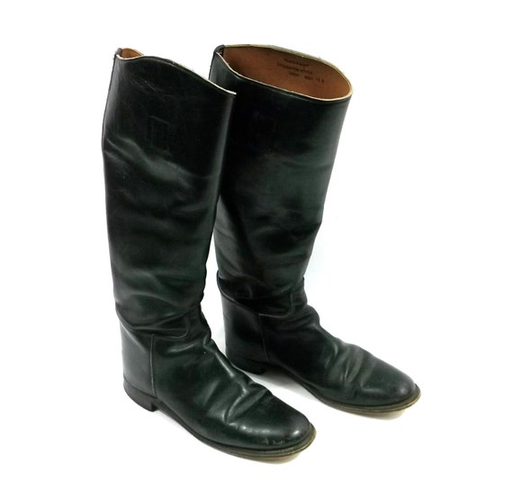 Vintage 1970s-80s authentic Equestrian Riding Boots /// made in england // size 7 1/2 mens / womens 9 - 9.5 unisex