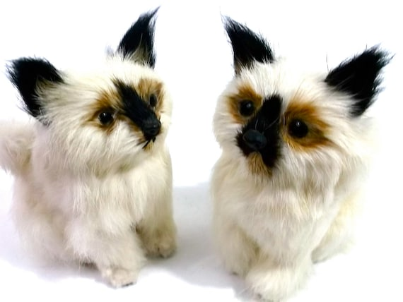 VINTAGE CATs // FUR Animal toys //We Are SIAMESE If you Please