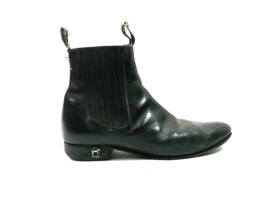 Distressed Mens Leather Ankle Beatle Boots