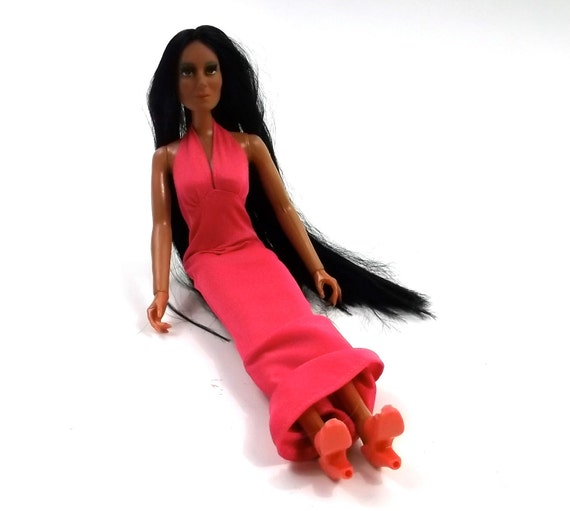 CHER Mego Doll // 1970s rare collectable doll // 13 inches tall / 1975