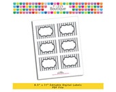 """PDF Editable Gray Stripes Tags/ Stickers/ Labels (No. 145) 3.5"""" X 2.5"""" Labels, Buffet or Food Cards, Favor Tags Printable"""