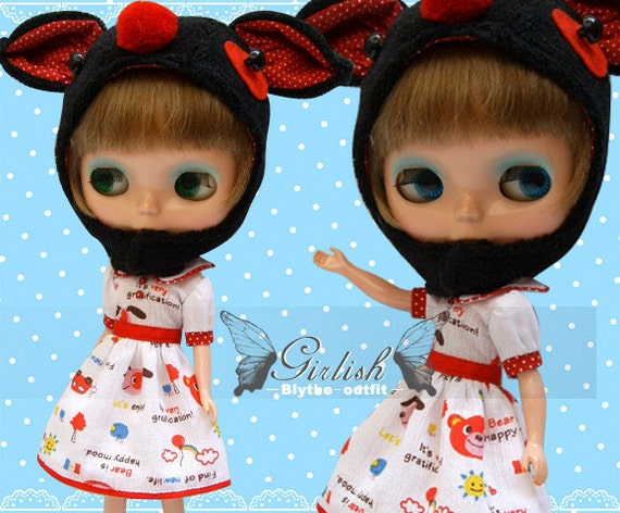 20% OFF - Girlish Cute Puppy dress set for Blythe