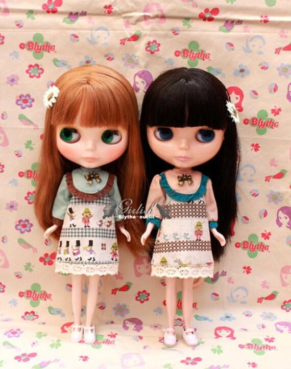 Twins sets - Girlish Fairy Tales set dresses for Blythe