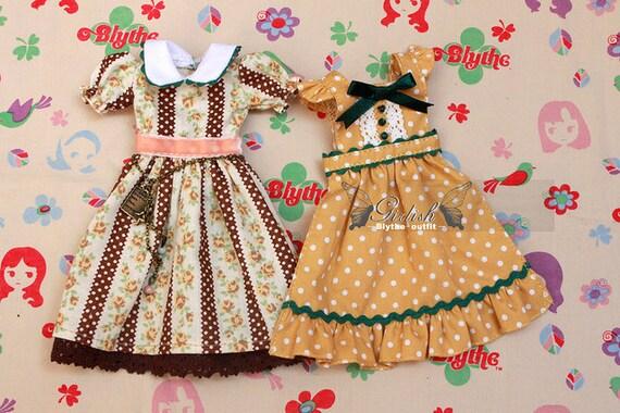 20% OFF - LAST SET - Rosy Angel dress set for Blythe doll Vol.2