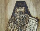 Father Seraphim Rose - Platina California - Wood Burned Box