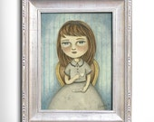 Original Illustration (Painting) - Tea Time by Amalia K - 5x7 inches