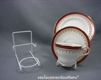 White Finish Cup, Saucer & Plate / Trio Display Stands x 6