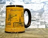 one lump please. vintage colorado ceramic coffee mug