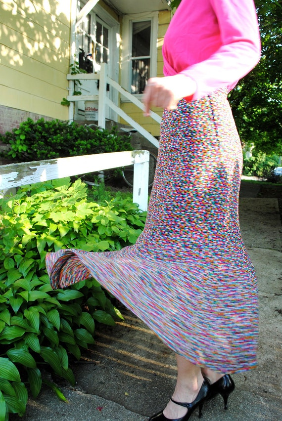 funfetti. vintage high waisted colorful skirt. size 4