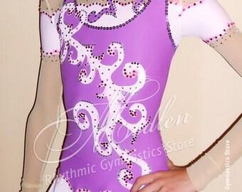 Rhythmic Gymnastics Leotard #16 for Competition | Order as Ice Figure Skating Dress, Acrobatic Gymnastics Costume or Baton Twirling Leotard