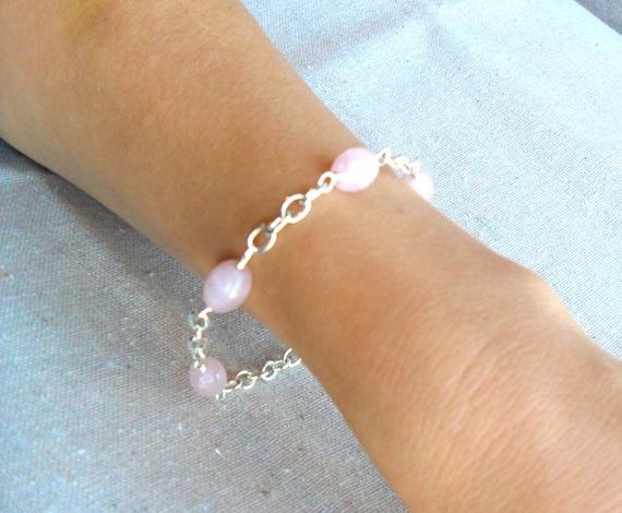 Unconditional Love.  Rose Quartz Gemstone Energy Bracelet.