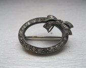 Antique Marqasite bow pin