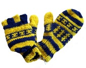 Michigan Wolverines  Knit Gloves