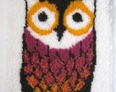 """Whoo-Whoo Owl Latch Hook Rug - 20"""" x 27"""""""