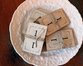 Vintage Number Cards, set of 15