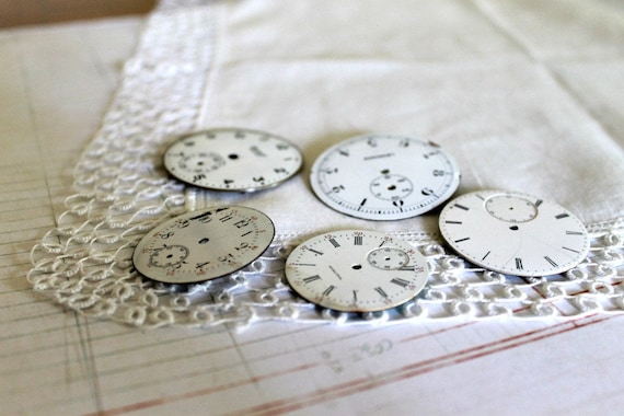 Vintage Watch Faces, set of 5