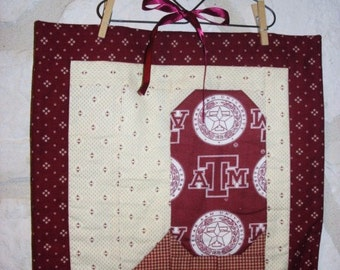 Texas Aggie boot quilted wall hanging cowboy A&M  FREE Shipping in the Usa