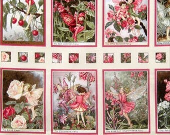 fabric panel SWEET BLOSSOM Fairy Fairies from Michael Miller