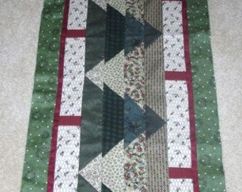 CAN'T SEE the Forest Christmas Trees table runner pattern December Year two- pieced quilted