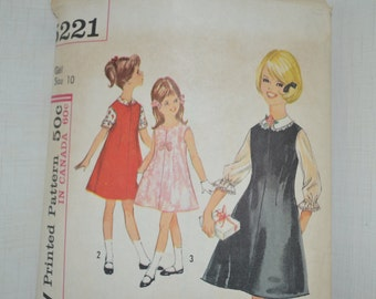 SALE Girl's dress and blouse size 10 pattern