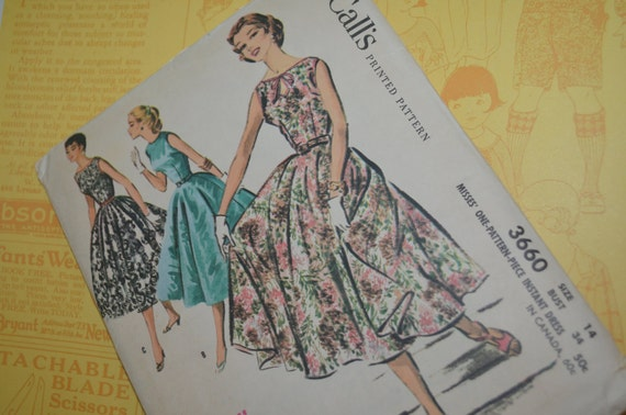 RESERVED for Mia through July 4 Women's dress pattern size 14 - uncut McCall's
