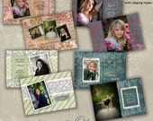 Graduation Announcement Templates - Senior Open House Invitation  - JUST FOR GIRLS Collection