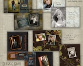Graduation Announcement Templates - THE CLASSIC GRAD Collection - photoshop templates for photographers