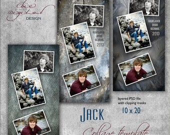 Senior photo collage graduation template for high school for Senior photo collage templates