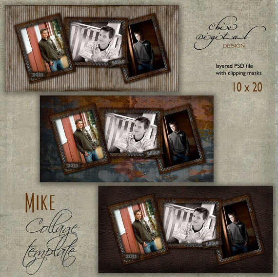 10 x 20 senior collage template mike 10x20 for Senior photo collage templates