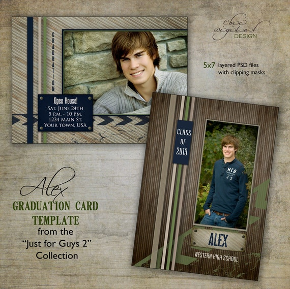 Graduation announcement card template for photographers just for Senior announcement templates free