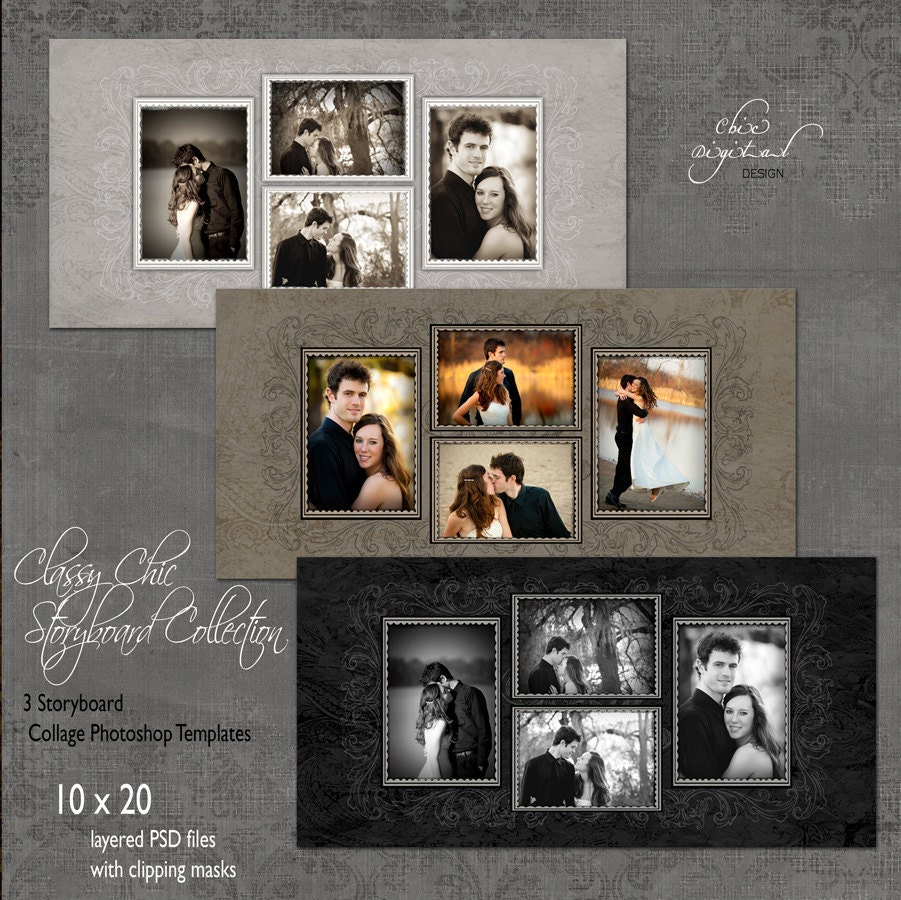Storyboard Collage Photoshop Templates CLASSY CHIC