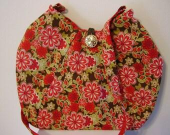 Red and Gold Floral Shoulder Bag - P27