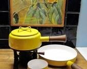 Groovy Yellow Dansk Kobenstyle Fondue Set by Jens Quistgaard