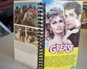 Grease VHS tape notebook