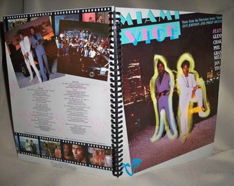 Miami Vice Soundtrack Album Cover Notebook