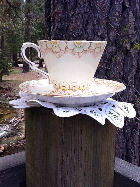 Gladstone China Tea Cup and Saucer