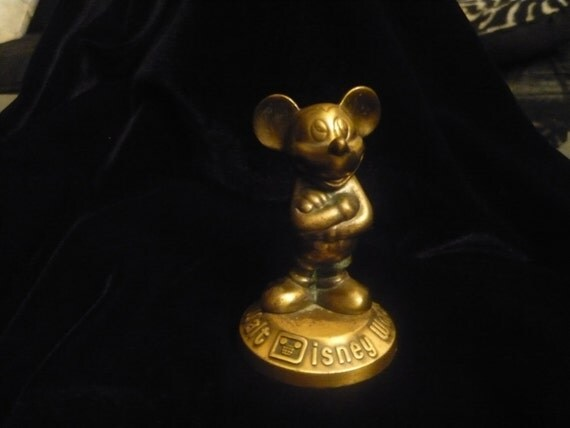 Brass Mickey Mouse Figurine