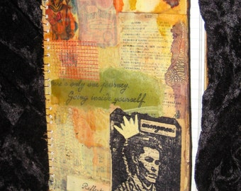 Distressed Artists Altered Art Notebook Journal