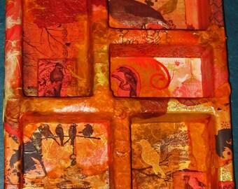A Red Sky at Night Curio Wall Shelf