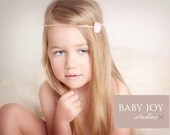 the Lovely : Newborn Headband - Blush Pink - Newborn Photo Prop - halo, flower headband, head band, photography prop
