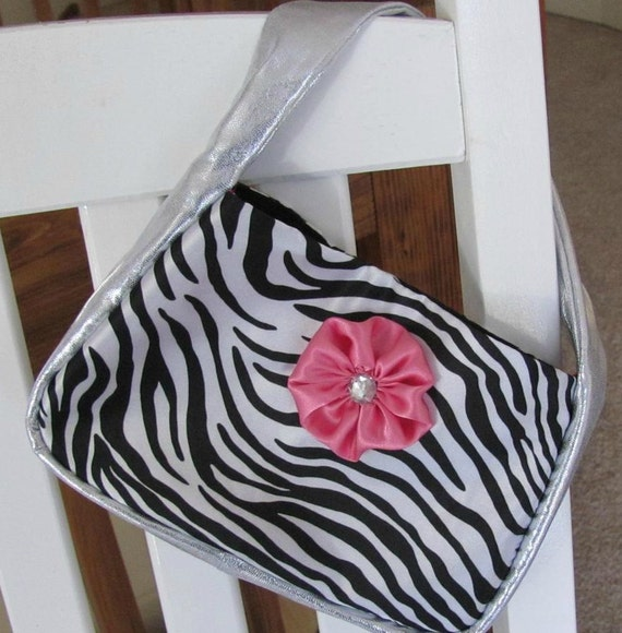 Toddler Girl Zebra and Silver Classy Purse