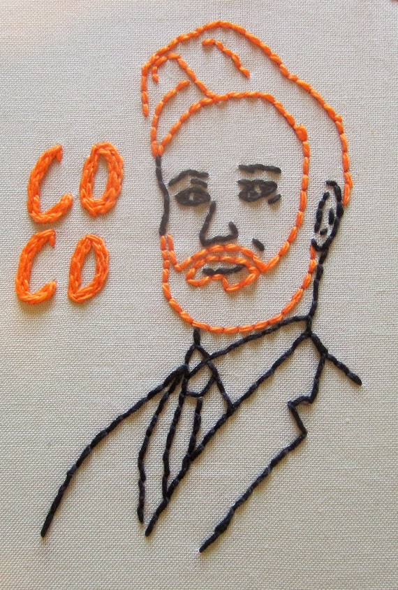 Conan O'Brien Wall Embroidery (In hoop)