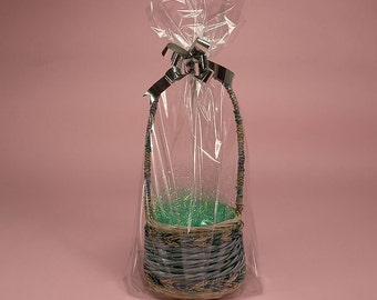 """Drop In 12""""x5""""x18"""" with Side Gusset Gift Basket Cello Bags (Free Shipping!)"""