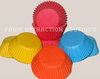 100 Solid Color Assortment Standard Cupcake Liners Baking Multi-Colored Cups (Free Shipping!)
